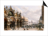 St. Mark's and the Doge's Palace, Venice Posters by Carlo Grubacs