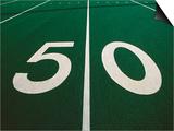 50-Yard Line of Football Field Prints by Joseph Sohm