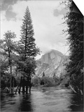 Half Dome Over Merced River Prints