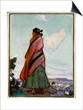 Navajo Shepherdess Posters par Ira Diamond Gerald Cassidy