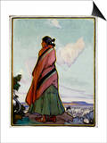 Navajo Shepherdess Posters by Ira Diamond Gerald Cassidy