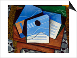 Guitar on a Table Print by Juan Gris