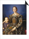 Eleonora of Toledo with Her Son Poster af Agnolo Bronzino