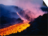 Lava Flowing from Mount Etna Posters by Roger Ressmeyer