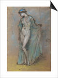 Female Nude with Diaphanous Gown Posters by James Abbott McNeill Whistler