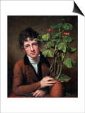 Rubens Peale with a Geranium Prints by Rembrandt Peale