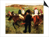 The Racehorses (Leaving the Weigh-In) Prints by Edgar Degas