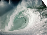 Shorebreak Waves in Waimea Bay Prints by Rick Doyle