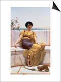 Idleness Prints by John William Godward