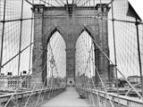 Pedestrian Walkway on the Brooklyn Bridge Posters by  Bettmann
