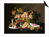 Still Life with Fruit and Champagne Prints by Severin Roesen