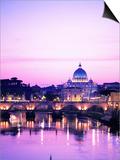 Sant'Angelo Bridge over Tiber River Prints by Dennis Degnan