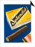 Splendid Cigar, Swiss Advertising Poster Poster