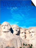 Preamble to US Constitution Above Mount Rushmore Posters by Joseph Sohm