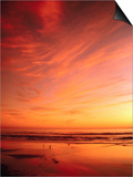 Southern California Sunset at Beach Posters by Mick Roessler