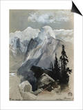South Dome Yosemite Prints by Thomas Moran