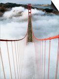 Golden Gate Bridge Wrapped in Fog Prints by Roger Ressmeyer