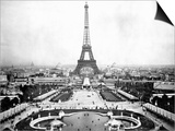 Eiffel Tower Over Exposition 1889 Poster