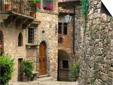 Tuscan Stone Houses Posters by William Manning