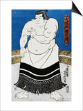 Japanese Print of a Sumo Wrestler Probably by Kunisada Prints by Stefano Bianchetti