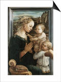 Madonna and Child with Angels Posters by Filippo Lippi