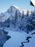 Merced River and Half Dome in Winter Prints by James Randklev