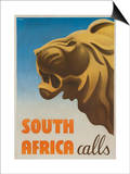 South Africa Calls Poster Posters by Gayle Ullman