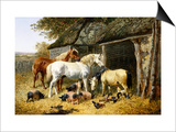 Farmland Friends Print by John Frederick Herring II