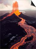 Kilauea Volcano Erupting Poster by Jim Sugar
