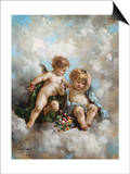Cherubs in the Clouds Posters by Charles Lutyens