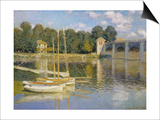 The Bridge at Argenteuil Poster by Claude Monet