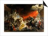 The Last Day of Pompeii Print by Karl Briullov