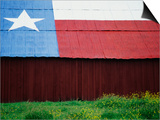 Texas Lone Star Design on Barn Roof Posters by Richard Cummins