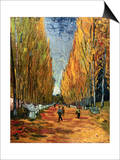 Avenue of The Elysian Fields Print by Vincent van Gogh