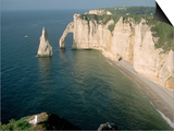 The Manneport Arch and Aiguille of Etretat Cliffs, France Posters by Franz-Marc Frei