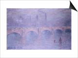Waterloo Bridge, Hazy Sun Prints by Claude Monet