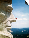 Mount Rushmore Repairman Working on Lincoln's Nose Posters by  Bettmann