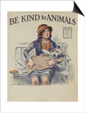 1939 Be Kind to Animals, American Civics Poster, Veterinary Office Prints