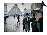 Paris Street; Rainy Day, 1877 Posters by Gustave Caillebotte