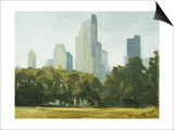 Central Park Skyline Print by Mary Iverson