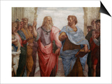 Detail of Plato and Aristotle from The School of Athens Affiches par  Raphael