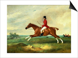 "Portrait of George Payne of Sulby on His Chestnut Hunter, ""The Clipper"" with the Pytchley at Full C Prints by John E. Ferneley"