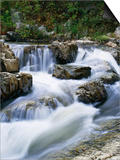 Stream Cascading over Boulders Prints by Perry Mastrovito