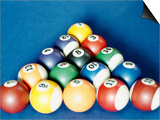 Balls on a Pool Table Posters