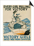 Every Girl Pulling for Victory Prints by Edward Penfield