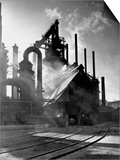 Blast Furnance at the Bethlehem Steel Works in Pennsylvania Prints