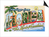 "Greetings from Florida, ""The Land of Sunshine"" Prints by  Lake County Museum"