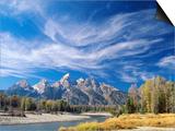 Cirrus Clouds over Teton Range and Snake River Prints