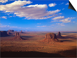 Aerial View of Monument Valley Print by Joseph Sohm
