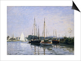 Recreational Boats Prints by Claude Monet